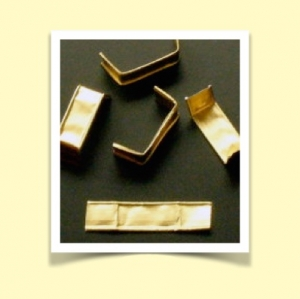 Clips 8 x 40 mm guld  1000st