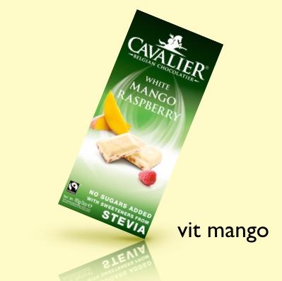 cavalier vit choklad